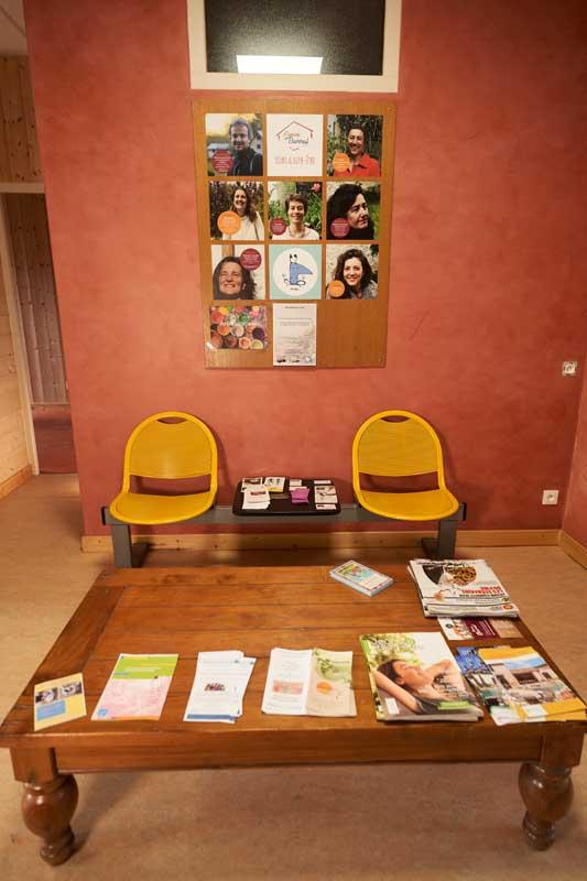 Salle d'attente de l'Espace Soins et Bien-Être de Die